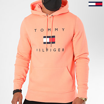 Tommy Hilfiger - Sweat Capuche Tommy Flag 4203 Rose Corail