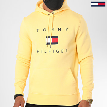 Tommy Hilfiger - Sweat Capuche Tommy Flag 4203 Jaune