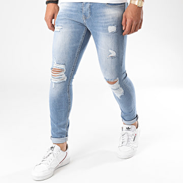 Zelys Paris - Jean Skinny Destroy Texas Bleu Denim