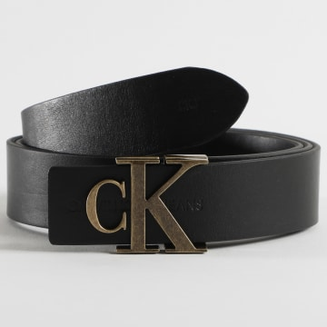 Calvin Klein - Ceinture Femme Cuir Réversible Mono Hardware 6880 Noir