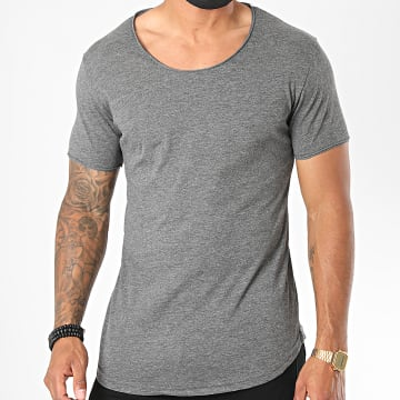 Classic Series - Tee Shirt Oversize 3603 Gris Anthracite Chiné