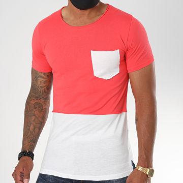 Classic Series - Tee Shirt Poche 064 Rouge Blanc