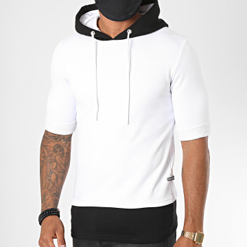 Classic Series - Tee Shirt Capuche 1703 Blanc Noir