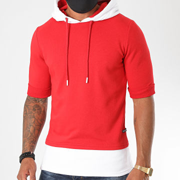 Classic Series - Tee Shirt Capuche 1703 Rouge Blanc