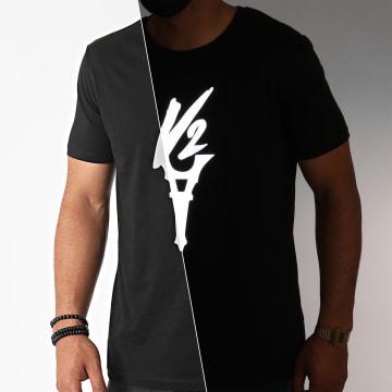 Da Uzi - Tee Shirt Logo Reflective Noir