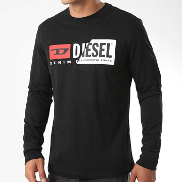 Diesel - Tee Shirt Manches Longues Diego Cuty A00351-0091A Noir