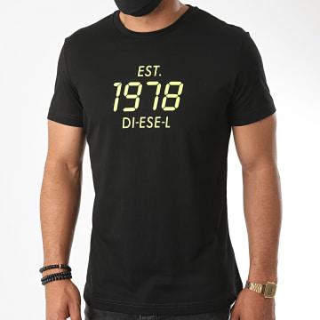 Diesel - Tee Shirt Diegos A00297-0HAYU Noir Vert