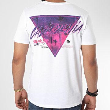 Luxury Lovers - Tee Shirt Palm California Blanc