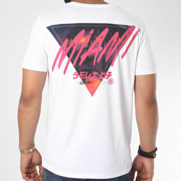 Luxury Lovers - Tee Shirt Palm Miami Blanc