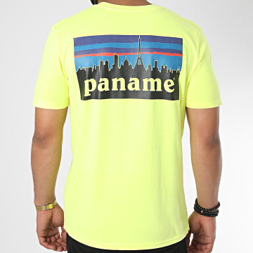 Luxury Lovers - Tee Shirt Paname Back Jaune Fluo