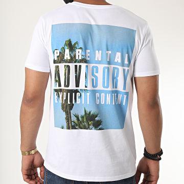 Parental Advisory - Tee Shirt Palm Big Blanc