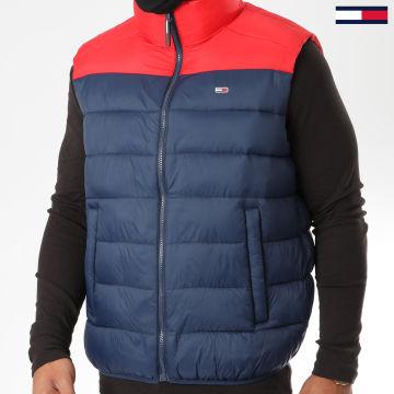 Tommy Jeans - Doudoune Sans Manches Colorblock 8430 Bleu Marine Rouge