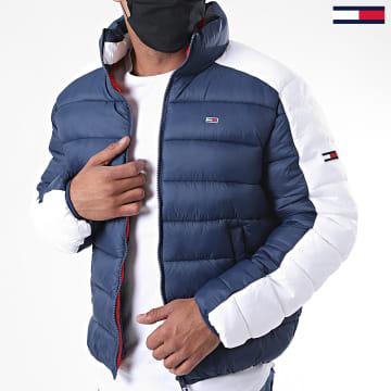 Tommy Jeans - Doudoune Colorblock 8432 Bleu Marine Blanc