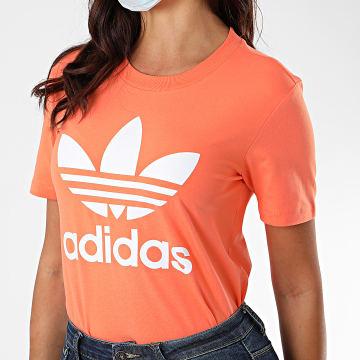 Adidas Originals - Tee Shirt Femme Trefoil FM3295 Orange