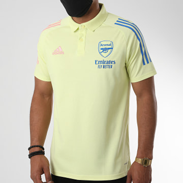 Adidas Performance - Polo Manches Courtes A Bandes Arsenal FC FM6153 Jaune