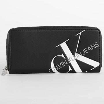 Calvin Klein - Portefeuille Femme Zip Around 6875 Noir