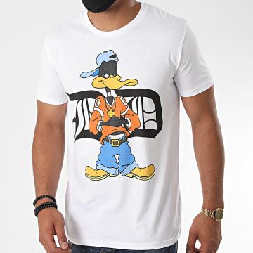 Looney Tunes - Tee Shirt Typo Daffy Blanc