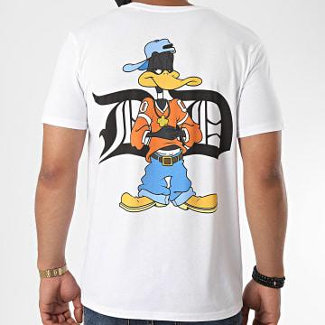 Looney Tunes - Tee Shirt Typo Daffy Back Blanc