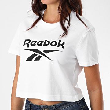 Reebok - Tee Shirt Crop Femme Classic F Big Logo FT8177 Blanc