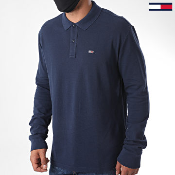 Tommy Jeans - Polo Manches Longues Classics 7457 Bleu Marine