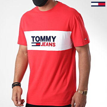 Tommy Jeans - Tee Shirt Pieced Band Logo 8360 Rouge