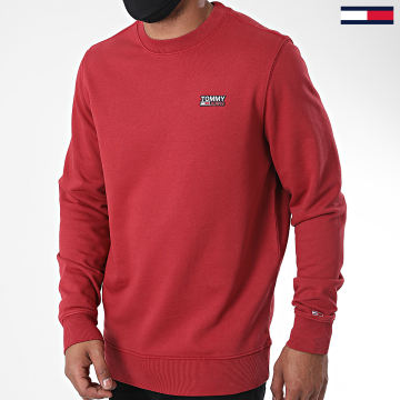 Tommy Jeans - Sweat Crewneck Washed Corp Logo 8413 Bordeaux