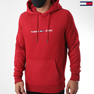 Tommy Jeans - Sweat Capuche Straight Logo 8474 Bordeaux