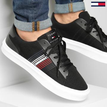 Tommy Hilfiger - Baskets Lightweight Stripes Knit 2836 Black