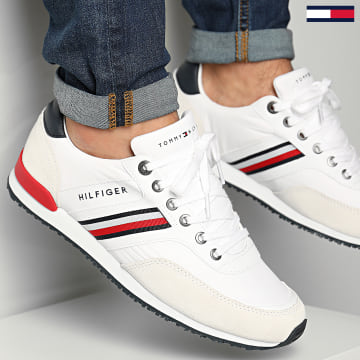 Tommy Hilfiger - Baskets Iconic Material Mix Runner 2847 White