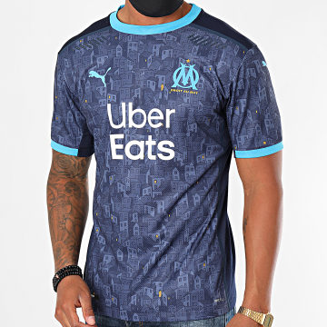 Puma - Tee Shirt De Sport OM Away Authentic 757073 Bleu Marine