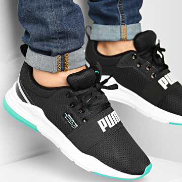 Puma - Baskets AMG Mercedes Wired Run 306604 Puma Black Mercedes Teal Spectral Green