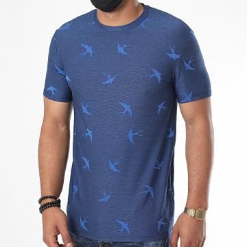 Uniplay - Tee Shirt UY498 Bleu Marine Chiné