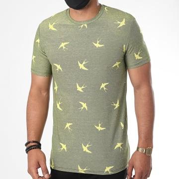 Uniplay - Tee Shirt UY498 Vert Chiné