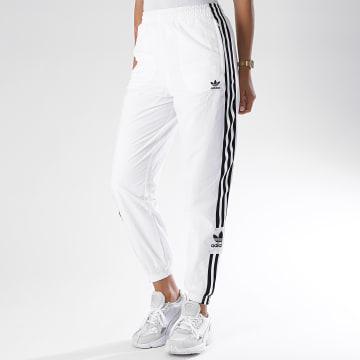 Adidas Originals - Pantalon Jogging A Bandes Femme FM2587 Blanc