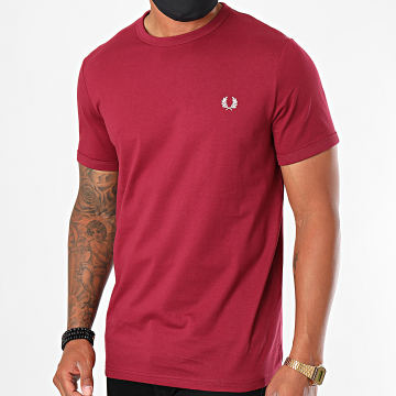 Fred Perry - Tee Shirt Ringer M3519 Bordeaux
