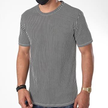 Frilivin - Tee Shirt A Rayures 13922 Blanc Noir