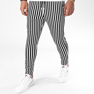 Frilivin - Pantalon A Rayures 23920 Blanc Noir
