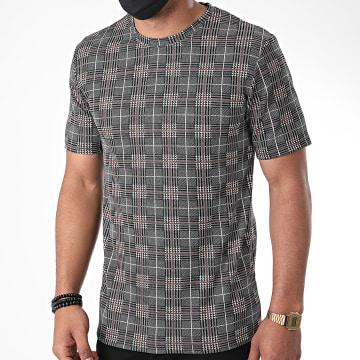 Frilivin - Tee Shirt A Carreaux 13919 Noir Marron