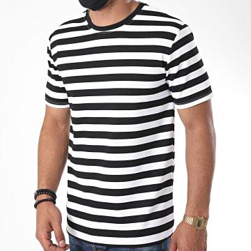 Frilivin - Tee Shirt A Rayures 13931 Blanc Noir