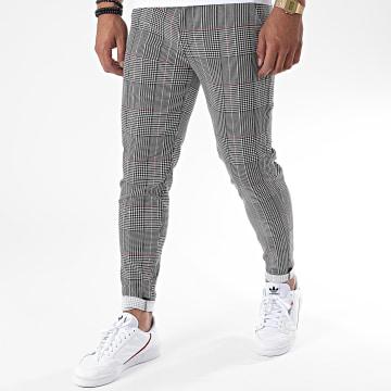 Frilivin - Pantalon A Carreaux 1761 Blanc Noir