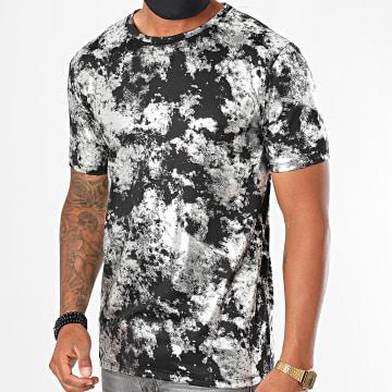 Frilivin - Tee Shirt 13926 Noir Argenté