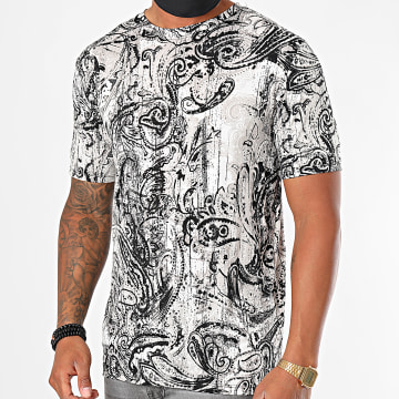Frilivin - Tee Shirt 13936 Gris Bandana