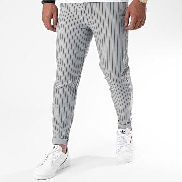 Frilivin - Pantalon A Rayures 1769 Gris