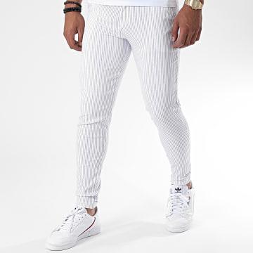 Frilivin - Pantalon Chino A Rayures 1765 Blanc