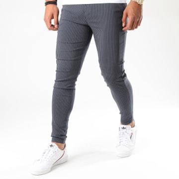 Frilivin - Pantalon A Rayures 1765 Bleu Marine