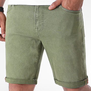 Jack And Jones - Short Jean Rick Icon Vert Olive