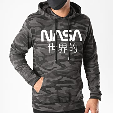 NASA - Sweat Capuche Japan Camo Noir