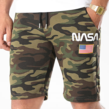 NASA - Short Jogging Director Camo Vert Kaki