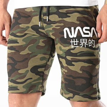 NASA - Short Jogging Japan Camo Vert Kaki