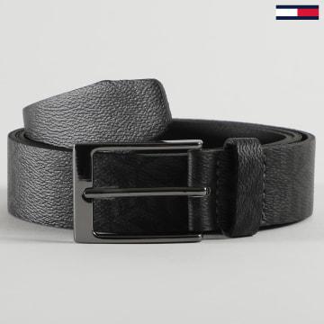 Tommy Hilfiger - Ceinture Layton Leather Monogram 6333 Noir
